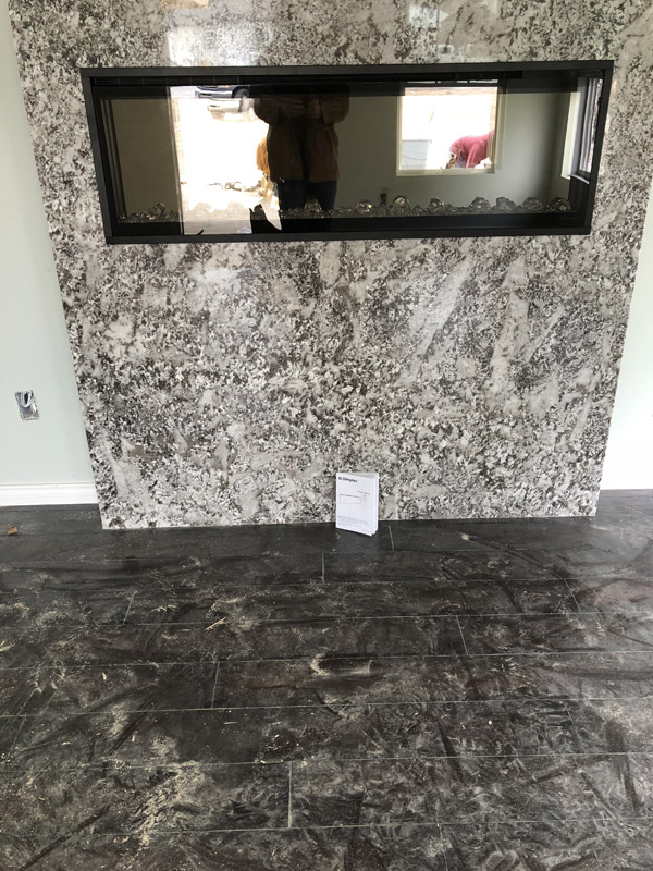 Glass Granite Fireplace