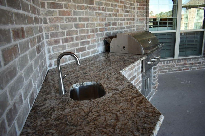 Granite Countertop Backyard Kitchen